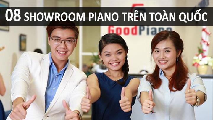 08 showroom Piano cùng hệ thống GoodPiano trên toàn quốc